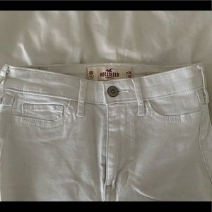 White High Rise Hollister Skinny Jean